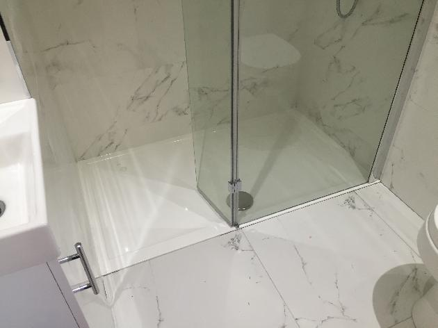 We squeezed this en suite in, the customer wanted a shower that was easier to use than the one over their bath